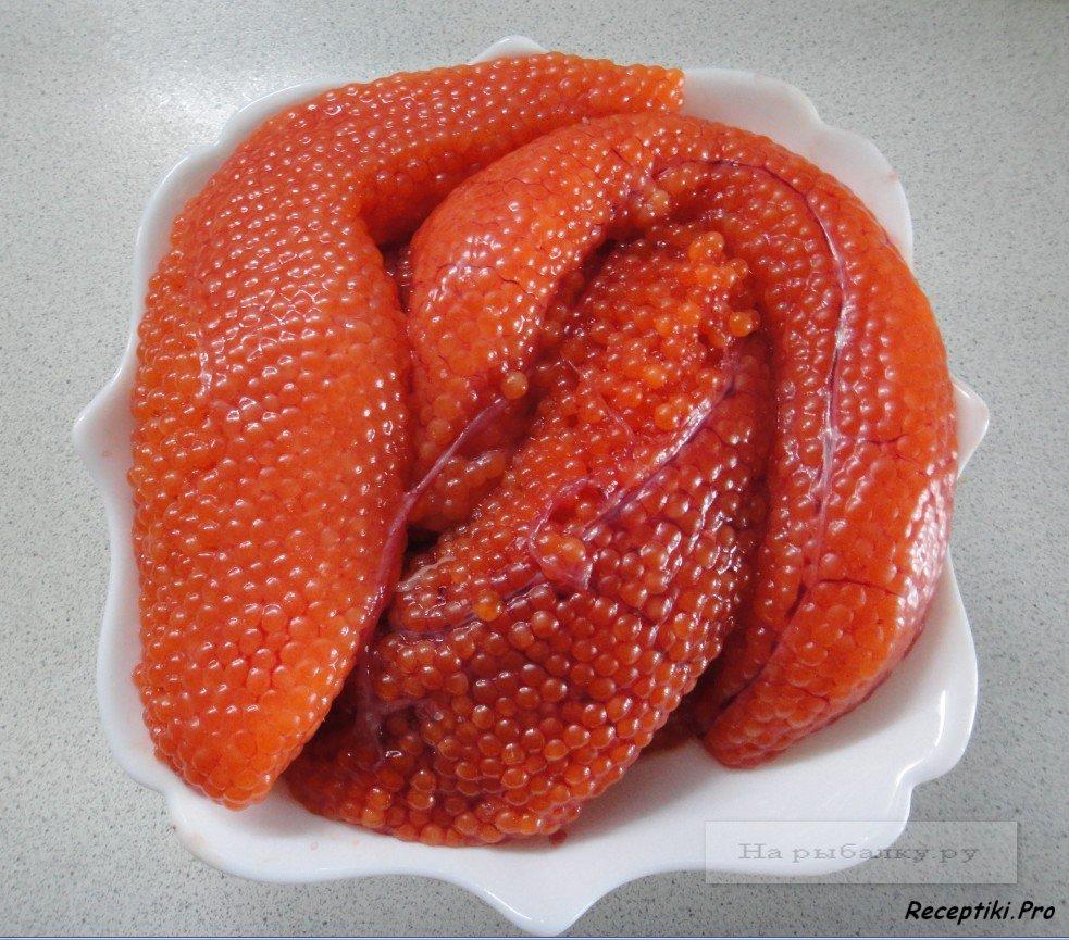 Как посолить икру красной рыбы в домашних условиях простой рецепт